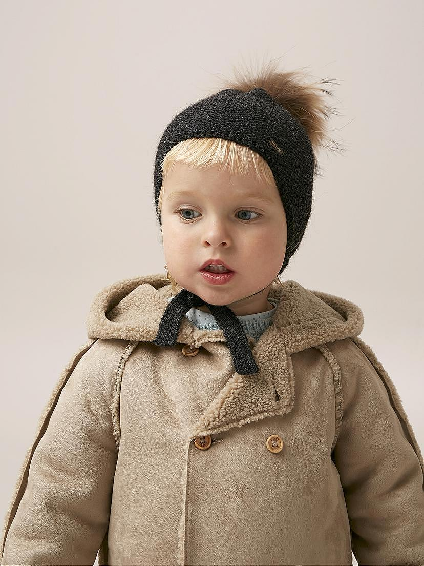 Conjunto Nanos de bebé niño con abrigo muton