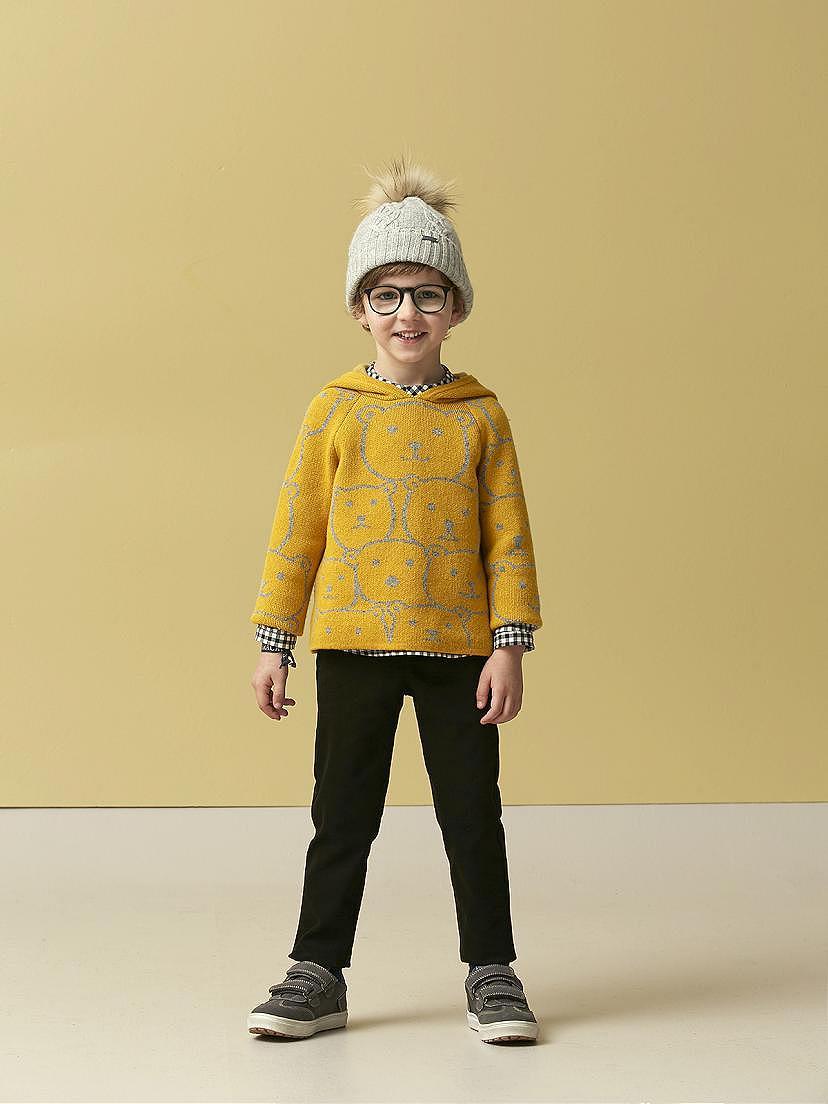 Conjunto Nanos de niño con jersey mostaza