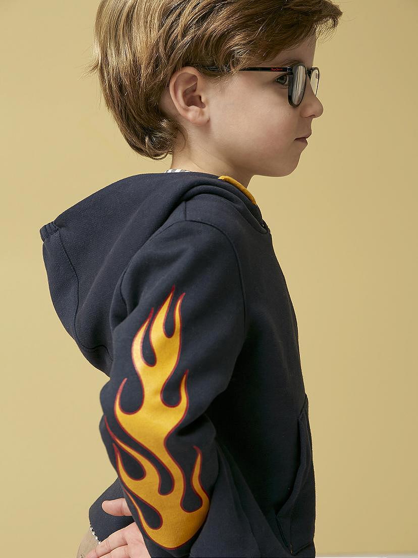 Conjunto Nanos de niño con sudadera de llamas