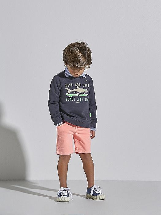 Conjunto de niño Nanos con sudadera y pantalón corto