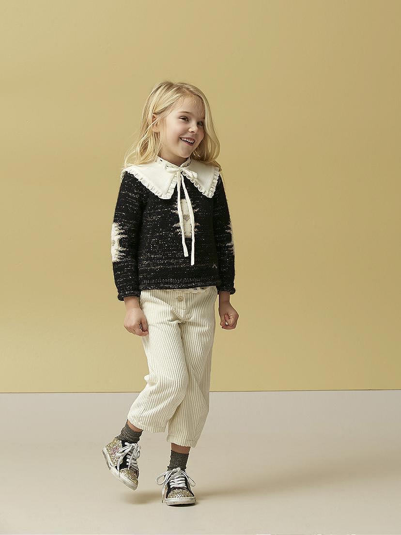 Look Nanos de niña con jersey indy negro