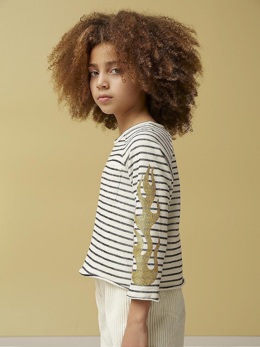 Conjunto Nanos de niña con camiseta de rayas