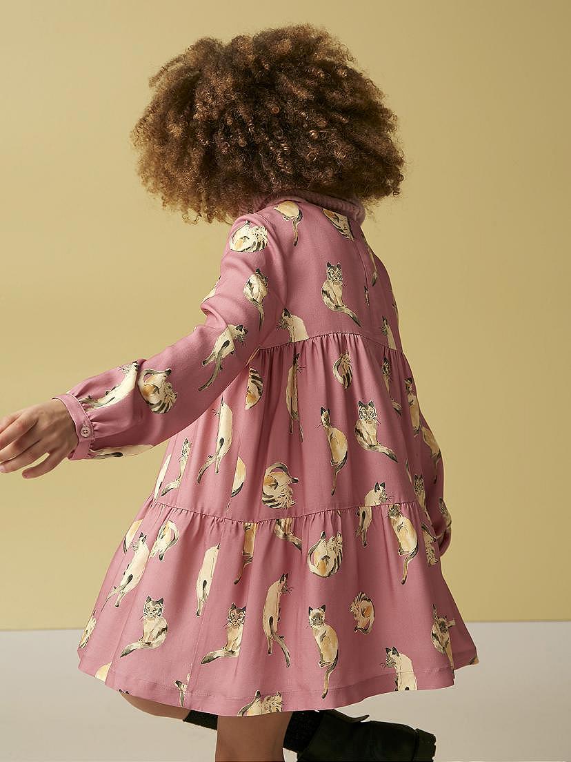 Conjunto de niña Nanos con vestido rosa y botas
