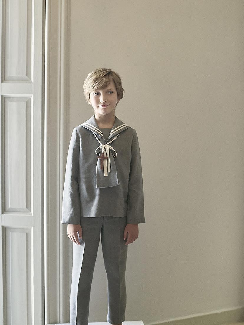 Tendencias 2021 con la traje comunión niño azul Nanos