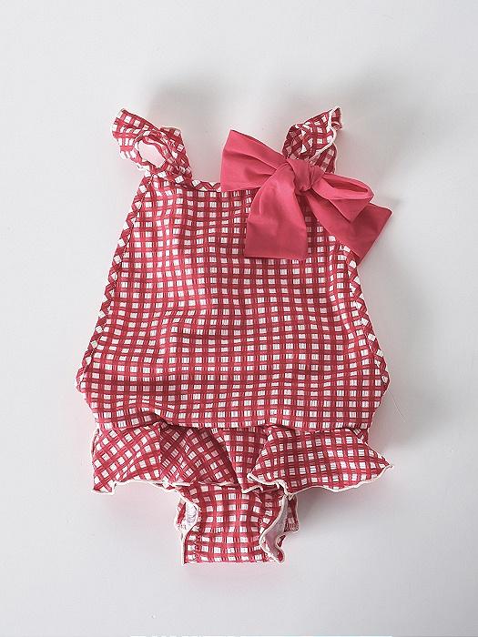 Bañador de lycra rojo para niño para combinar con el de mamá