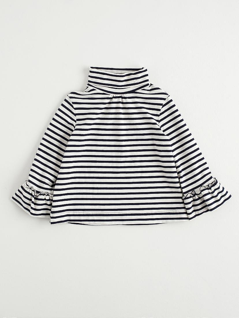 Camiseta de niña Nanos punto marino de rayas