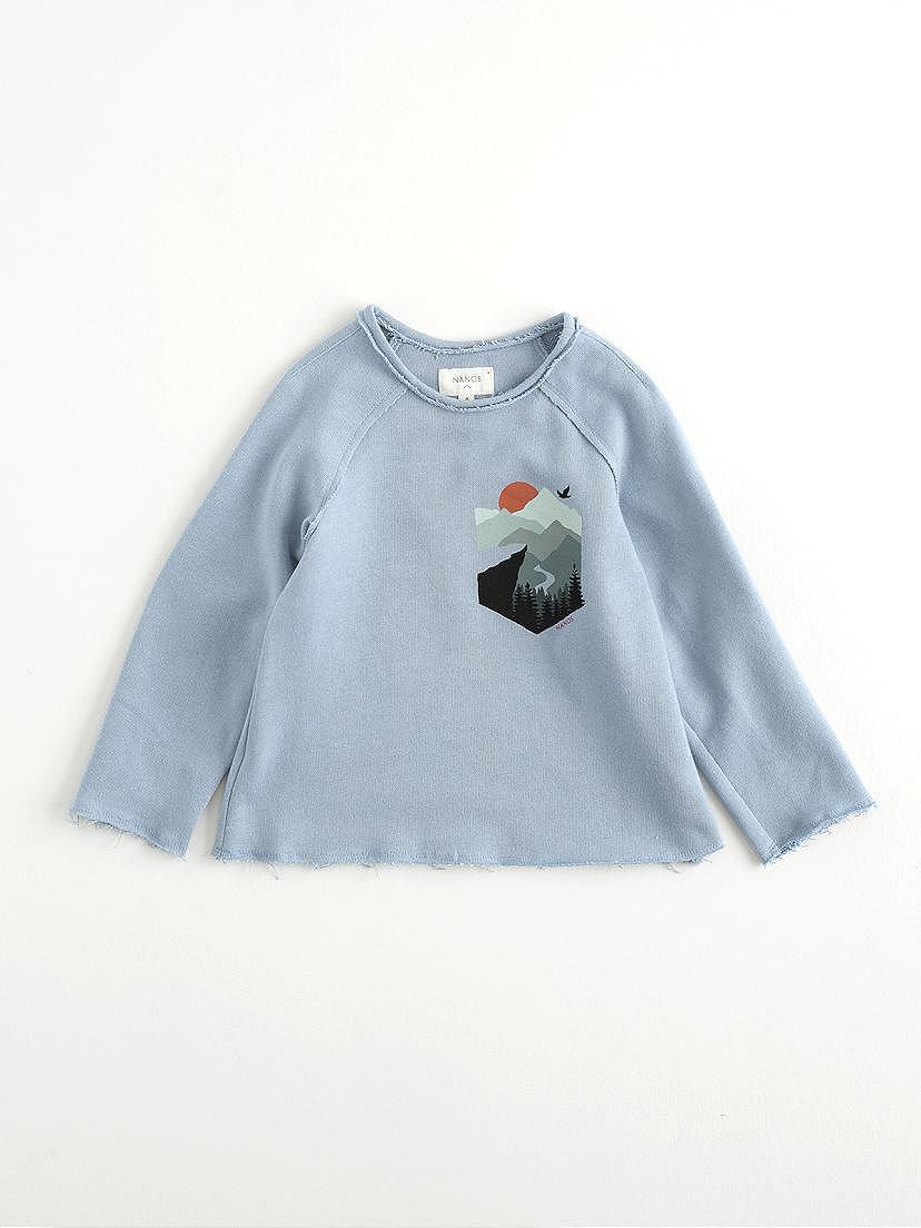 Camiseta Nanos de felpa celeste para niño