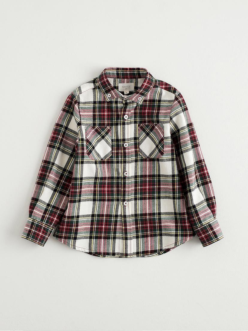 Camisa escocesa Nanos de viella rojo para niño