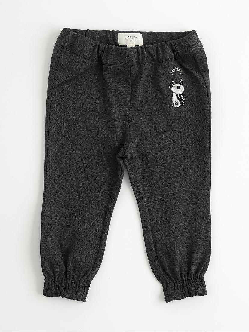 Pantalones de punto gris oscuro de Nanos para niña