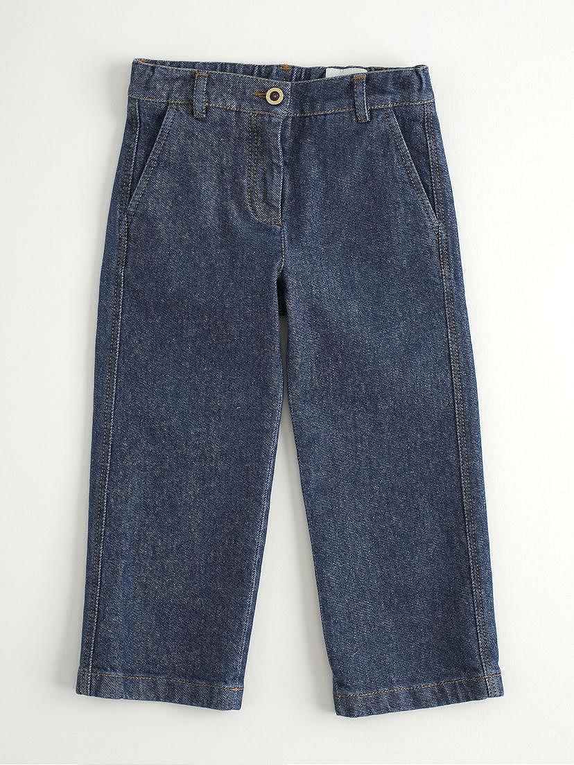 Pantalon jeans vaquero denim azul para niña Nanos