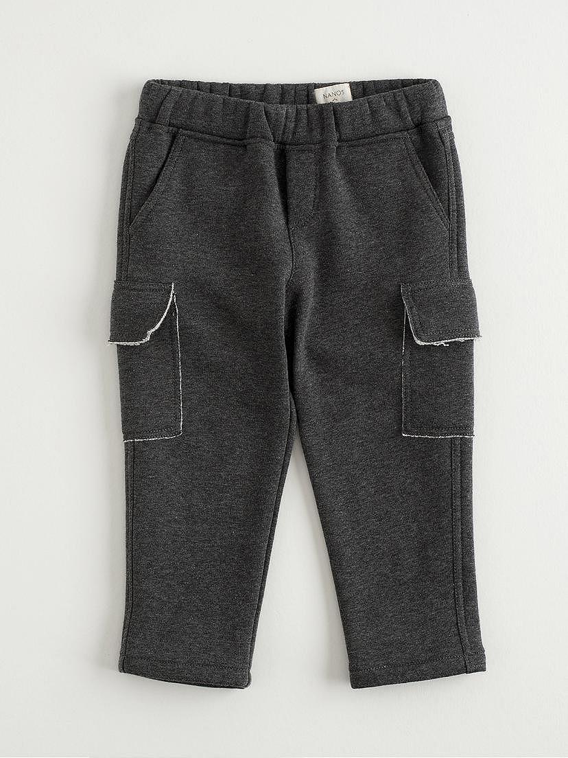 Pantalones niño de felpa gris oscuro de Nanos