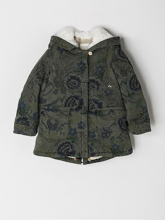 aa4a83e7d NANOS / GIRL / Coats and Jackets / PARKA LONETA VERDE KAKI / 2719543424 (1