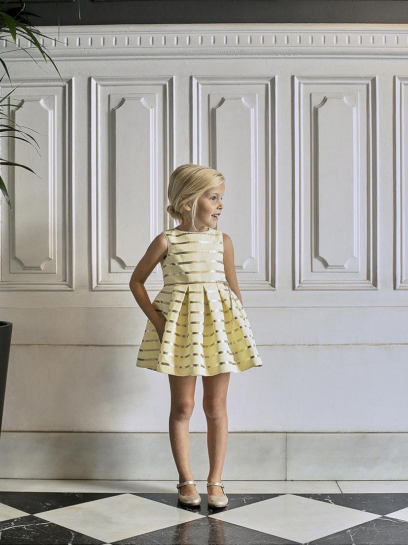 Vestido de fiesta amarillo Nanos