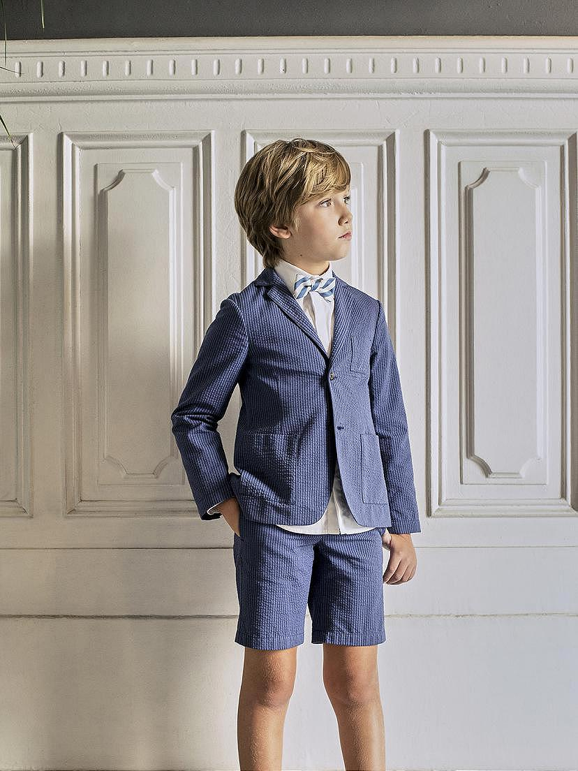 Traje de fiesta azulon para niño en tendencias Nanos