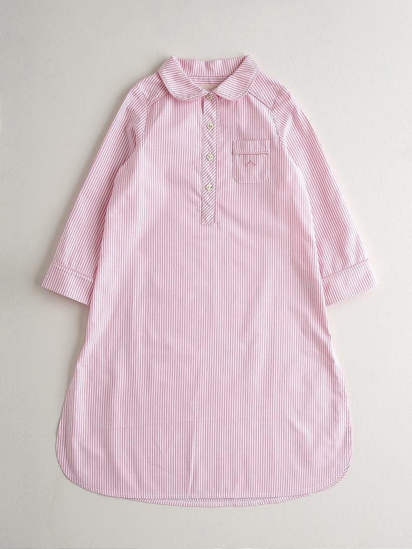 Camisón Nanos rosa en calidad oxford de algodón