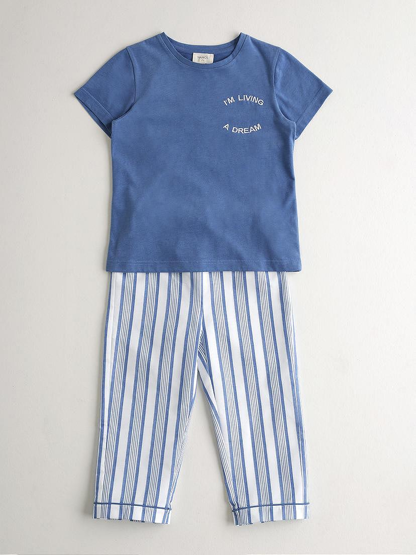 Pijama de dos piezas azulón de Nanos